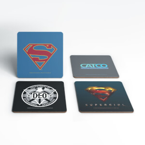 DC Supergirl TV Coaster Set