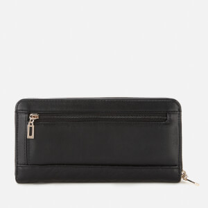 Guess Women's Janay Large Zip Around Wallet - Black