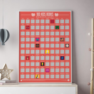 100 Kids Books Scratch Off Bucket List Poster