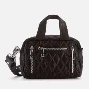 Núnoo Women's Mini Satin Quilted Donna Bag - Black