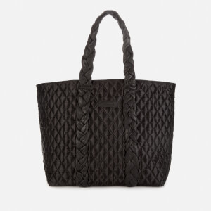 Núnoo Women's Satin Quilted Shopper Bag - Black