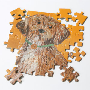 Talking Tables Double Sided Pooch Jigsaw Puzzle - Cockapoo