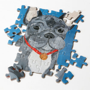 Talking Tables Double Sided Pooch Jigsaw Puzzle - French Bulldog