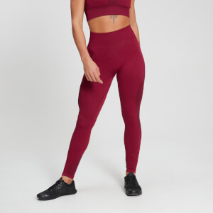MP Women's Raw Training Ribbed Seamless Leggings - Plum