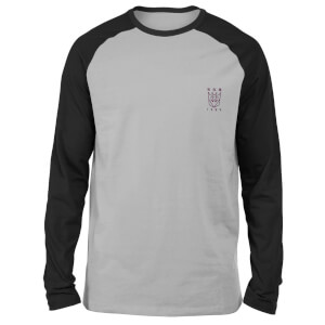 Transformers Decepticons Embroidered Unisex Long Sleeved Raglan T-Shirt - Grey/Black
