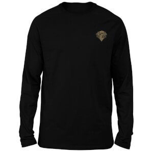Harry Potter Gryffindor Embroidered Unisex Long Sleeved T-Shirt - Black