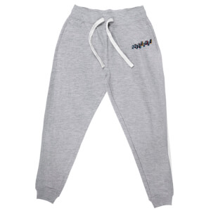 DC Birds of Prey Boobytrap Embroidered Unisex Joggers - Grey