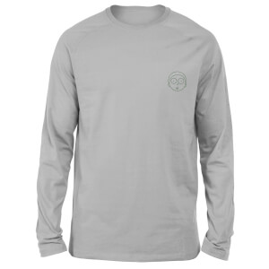 Rick and Morty Morty Embroidered Unisex Long Sleeved T-Shirt - Grey