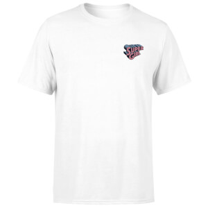 T-Shirt DC Super Girl con Ricamo - Bianco - Unisex