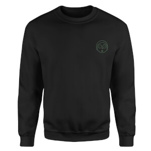 Rick and Morty Morty Embroidered Unisex Sweatshirt - Black