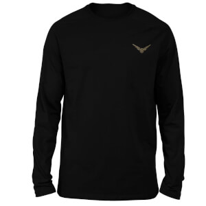 Harry Potter Snitch Embroidered Unisex Long Sleeved T-Shirt - Black