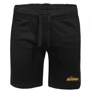 DC Batman Embroidered Unisex Jogger Shorts - Black
