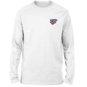 DC Super Girl Embroidered Unisex Long Sleeved T-Shirt - White