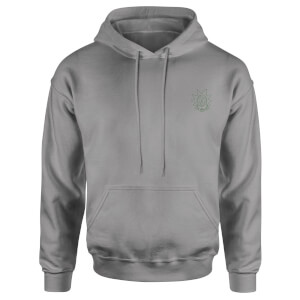 Rick and Morty Rick Embroidered Unisex Hoodie - Grey