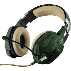 Trust Gaming GXT 322 Carus Gaming Headset for PC, Laptop, PS4 and Xbox One - Jungle Camo