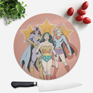 DC Superhero Women Round Chopping Board