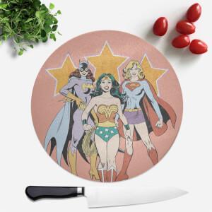 Planche à découper Ronde Super-héroïnes DC
