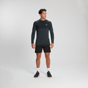 MP Men's Essentials Seamless Langermet T-skjorte – Karbonmelert
