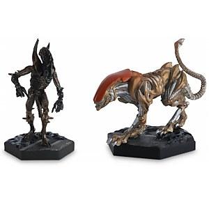 Eaglemoss Figure Collection - Alien Retro Panther & Scorpion Figurine Set (2 Pack)