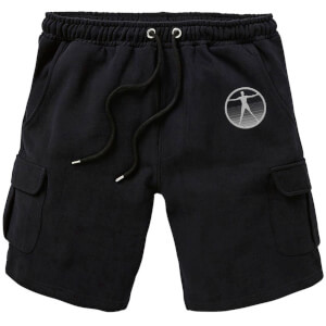 Westworld Logo Embroidered Unisex Cargo Shorts - Black