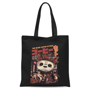 Ilustrata Black Coffee Kaiju Tote Bag - Black