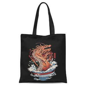 Ilustrata Dragon Ramen Tote Bag - Black