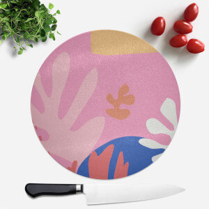 Colourful Abstract Round Chopping Board