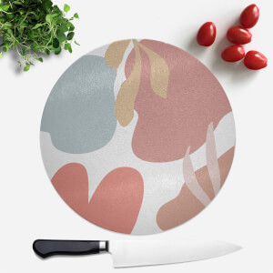 Abstract Clouds And Leaves Round Chopping Board