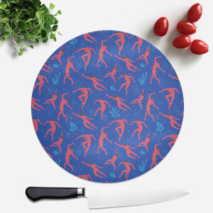 Cool Tone Dancers Round Chopping Board