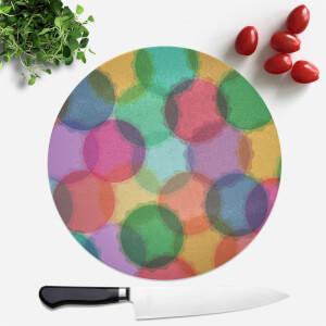 Macaron Feast Round Chopping Board