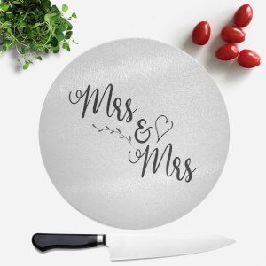 Mrs & Mrs Round Chopping Board
