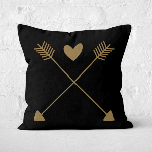 Hearts And Arrows Square Cushion