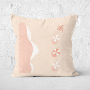 Birds Eye Beach Square Cushion