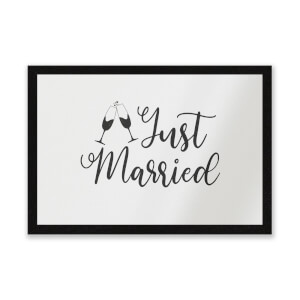 Just Married Signature Entrance Mat