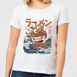 Ilustrata The Great Ramen Off Women's T-Shirt - White