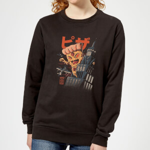 Ilustrata Pizza Kong Women's Sweatshirt - Black