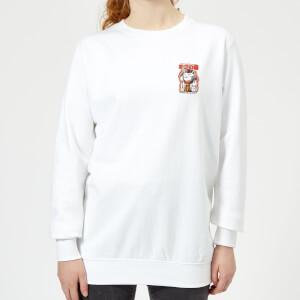 Ilustrata Catunist Women's Sweatshirt - White