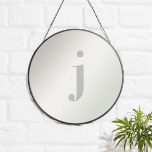 J Engraved Mirror