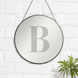 B Engraved Mirror