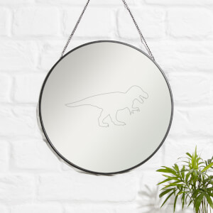 T-rex Engraved Mirror