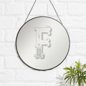 Circus F Engraved Mirror