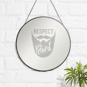 Respect The Beard Engraved Mirror