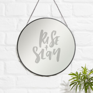 Rise And Slay Engraved Mirror