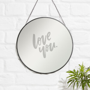 Love You Engraved Mirror