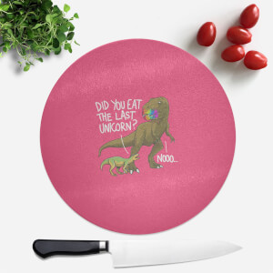 Dinosaur Unicorn Round Chopping Board
