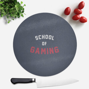 School Of Gaming Round Chopping Board
