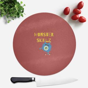 Monster Skillz Round Chopping Board