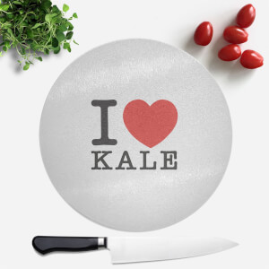 I Heart Kale Round Chopping Board