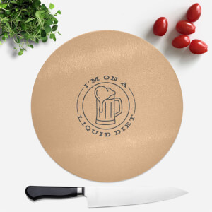 Liquid Diet Beer Round Chopping Board