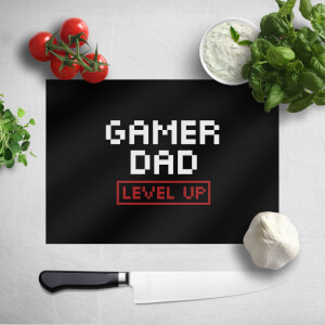 Gamer Dad Level Up Chopping Board